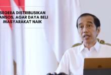 Presiden Jokowi Soal Penyaluran Bansos Awal Januari 2021