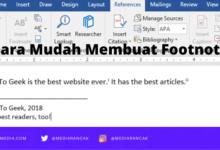 Cara Membuat Footnote